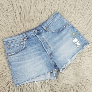 Levi's X Shorts Peanuts Snoopy 501 Cut Off W32